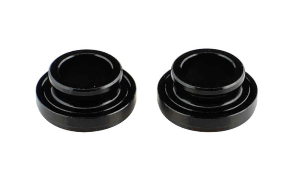 Side cap FRONT 15, AL-BLK, L/R, for D041SB-15, D811SB-15 assembled