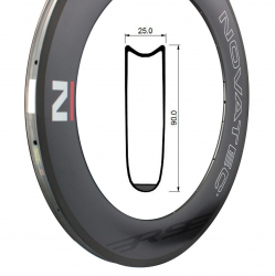 Rim Road Carbon R9-T, U2.1, Tubular Rear 20 holes