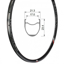 Rim Road Disc DWA23C, Tubeless Ready, 622-17, Front/Rear 24 holes (CXD-C)