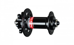 Hub front D771SB/A-QR, polished anodized black, 32 holes