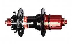 Hub rear XD612SB/A-QR-AA-ABG-11S, polished anodized black, 28 holes