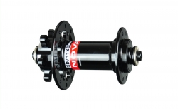 Hub front D771SB/A-QR-(XD)711, polished anodized black, 20 holes